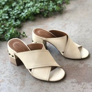 7b9693590a30 See By Chloe Shoes - See by Chloe Cream Leather Studded Block Heel Mule